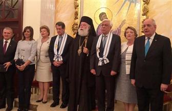 وزيرة الهجرة ترافق رئيسي اليونان وقبرص في زيارتهم للكنيسة اليونانية بالإسكندرية| صور وفيديو