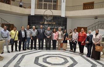 ماجد نجم: جامعة حلوان لن تسمح أن تظل خارج التصنيفات الدولية للجامعات | صور