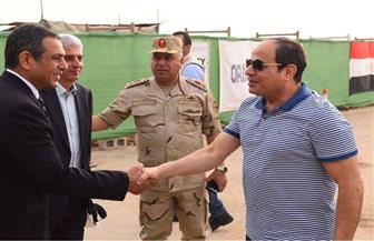 الرئيس السيسى يتفقد مشروعات العاصمة الإدارية الجديدة | صور