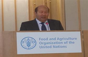 السفير هشام بدر يعرض جهود مصر في تحقيق التنمية الزراعية والأمن الغذائي | صور