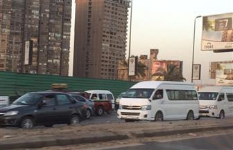 كثافات مرورية أعلى الطريق الدائري وكورنيش النيل   صور