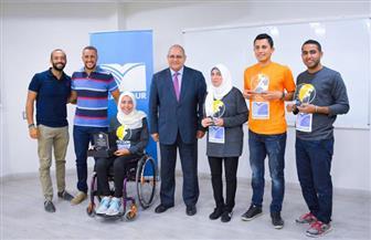 """""""مدكور للمشروعات الهندسية المتكاملة"""" تكرم الشباب المشاركين في ماراثون ذوي الاحتياجات الخاصة 100 كم من القاهرة"""
