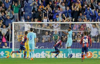 ليفانتي يحرز خمسة أهداف في شباك برشلونة خلال 70 دقيقة
