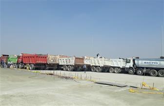 النقل تعلن نجاح تجربة تحميل على كوبري الخطاطبة العلوي على النيل   صور