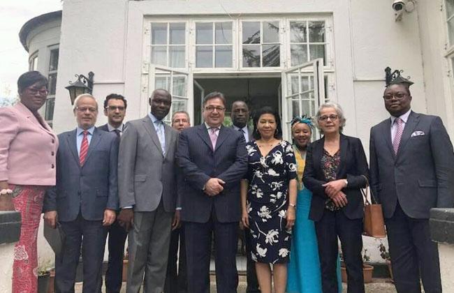 سفير مصر بكوبنهاجن يستقبل سفراء المجموعة الإفريقية لمناقشة الاستعدادات ليوم إفريقيا -