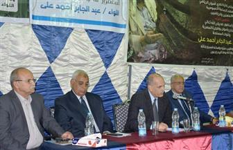 سكرتير محافظ أسوان يشهد حفل تأبين اللواء عبد الجابر بطل حرب أكتوبر نائبا عن المحافظ | صور