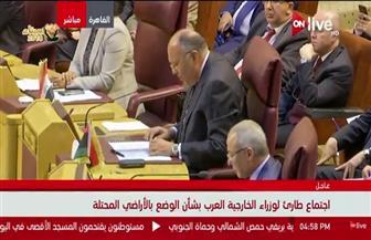 سامح شكري: حان الوقت لنطوي الصفحة المظلمة من تاريخ المنطقة ونحقق تطلعات الشعب الفلسطيني في السلام