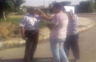 مدير الطرق والنقل بالأقصر يتفقد طريق حاجر الضبعية   صور