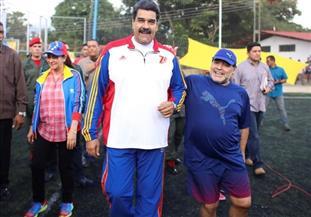مارادونا يدعم الرئيس الفنزويلي مادورو فى ختام حملته الانتخابية