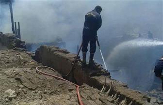 حريق بمحل أخشاب قريب من معبد إسنا جنوب الأقصر | صور