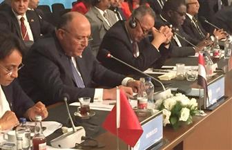 وزير الخارجية أمام قمة إسطنبول: نحتاج لوقفة حاسمة مع سياسة الاحتلال الإسرائيلي في فلسطين| صور