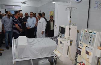 محافظ بني سويف يزور مستشفى ناصر المركزي ويطالب بسرعة تجهيزها | صور