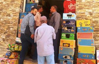 ضبط كميات من السلع الفاسدة ومجهولة المصدر بكفر الشيخ