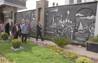 محافظ بني سويف يتفقد سير العمل بمشروع مبنى ديوان عام المحافظة الجديد بكورنيش النيل | صور