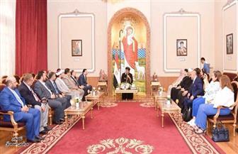 البابا تواضروس يستقبل وفدا من مركز الملك عبد الله بن عبد العزيز للحوار بين الأديان | صور