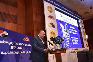 سامح شكرى: مفاوضات سد النهضة تخطت الـ 3 سنوات ولم نصل للتنفيذ الكامل لاتفاق المبادئ