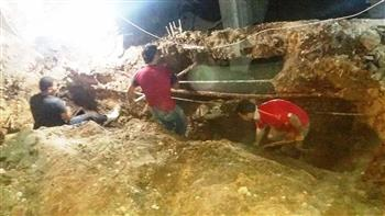 محافظ سوهاج: إصلاح ماسورة مياه بشارع المستشفى المركزي في المراغة