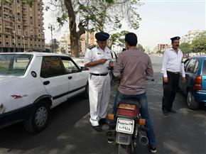 """""""مرور"""" الإسماعيلية يضبط 1403 مخالفات في حملة بالشوارع والميادين"""