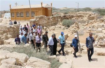 خبراء اليونسكو والفاو فى الري والآثار والثقافة يتفقدون آثار أبو مينا بالإسكندرية   صور
