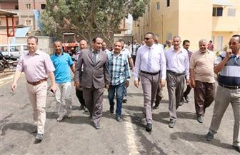 سكرتير عام محافظة المنوفية يتفقد مشروع وحدة الرصف   صور