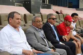 وزير الرياضة يحضر تدريب المنتخب الوطنى باستاد القاهرة قبل السفر للكويت