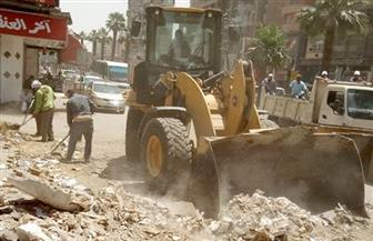 حى الهرم ينظم حملات للقضاء على الإشغالات خلال شهر رمضان | صور