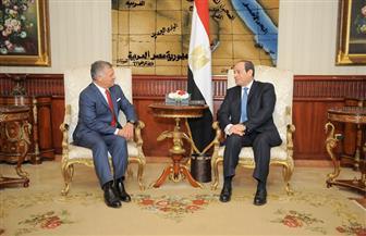 الرئيس السيسي والملك عبدالله يشددان على دعمهما الكامل للحقوق المشروعة للشعب الفلسطيني