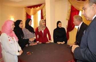 فودة يرسل قافلتين لنقل أغراض طلبة محافظة جنوب سيناء المقيدين بكليات شمال سيناء | صور