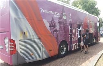 حافلة منتخب مصر تثير إعجاب الإيطاليين | صور