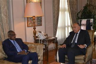 تفاصيل لقاء سامح شكري ووزير خارجية السودان في إطار آلية التشاور السياسي