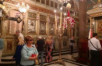 الوفد اليوناني القبرصي يزور كنيسة القديس سابا باﻹسكندرية | صور