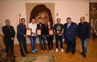 تكريم هبة طوجي وأسامة الرحباني من جامعة مصر | صور