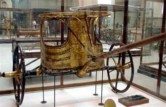 المتحف الكبير يستقبل القطعة الأخيرة.. عجلات توت عنخ آمون شاهدة على الحضارة المصرية   صور