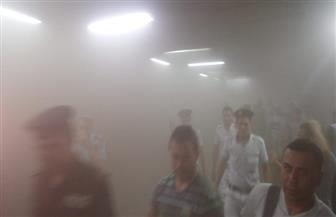 حريق بغرفة التحكم الموجودة بمحطة الشهداء باتجاه حلوان.. ولا تأثير على حركة المترو