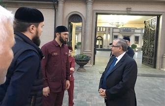 سفير مصر بموسكو يتفقد الاستعدادات لاستقبال المنتخب المصري في معسكره بجروزني | صور