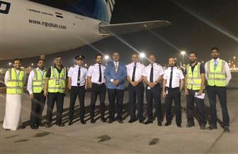 إقلاع طائرة مصر للطيران الثانية إلى دريسدن لتحويلها لطائرة بضائع   صور