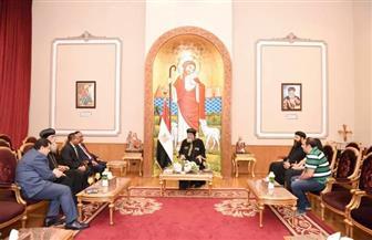 """البابا تواضروس يلتقي مدير عام دائرة الشرق الأوسط بـ""""الخارجية الإثيوبية""""   صور"""