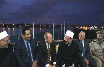 دمياط تستقبل وزير الأوقاف والمفتي ومحافظ بورسعيد بدعوة من رئيس دينية البرلمان | صور