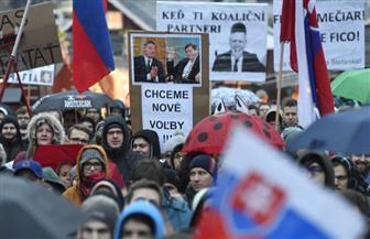 آلاف السلوفاك يتظاهرون من أجل حرية الإعلام وإجراء انتخابات جديدة