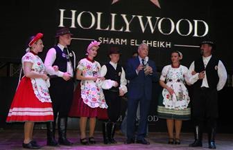 فرقة فنون شعبية مجرية تحيي حفلا لدعم السياحة ضمن أسبوع الثقافة المجري بشرم الشيخ | صور