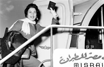صور نادرة لركاب مصر للطيران من الفنانين والمشاهير في ذكرى تأسيسها | شاهد