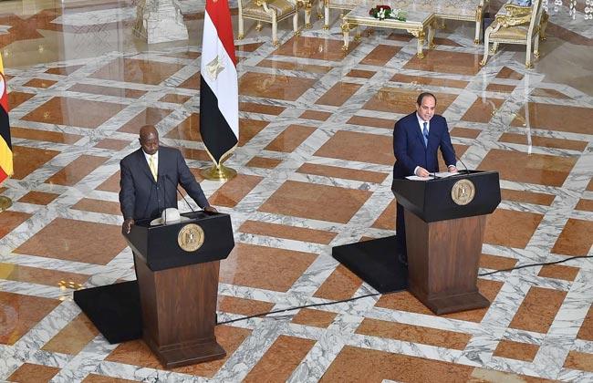 قمة السيسي وموسوفيني تركز على حل مشكلة سد النهضة ومكافحة الإرهاب والتعاون الثنائي -