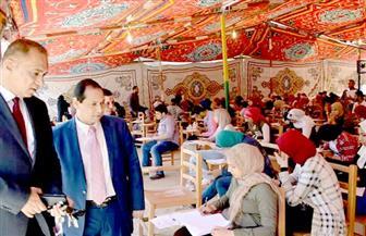 رئيس جامعة بورسعيد يتفقد سير الامتحانات بكُليتي التربية والصيدلة | صور