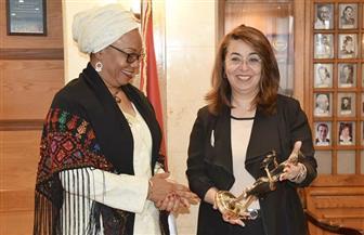 """غادة والي تستقبل وزيرة المرأة ببوركينا فاسو وتطلعها على برامج الدعم النقدي وحماية """"المرأة المعنفة"""""""
