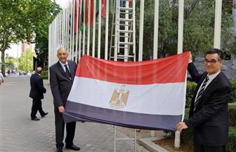 رفع علم مصر أمام  المجلس الدولي للزيتون بمناسبة إعادة انضمامها| صور
