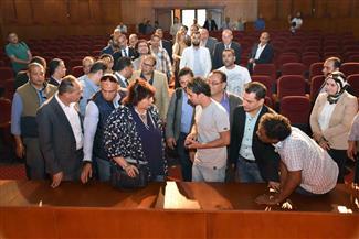 وزيرة الثقافة تتفقد المركز الثقافي بطنطا تمهيدا لافتتاحه نهاية يونيو   صور