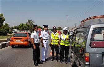 تحرير 1087 مخالفة مرورية لقائدي السيارات والدراجات النارية فى حملة بالقليوبية