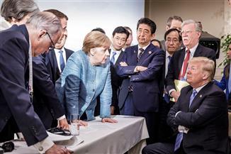 الصورة أصدق من الكلام.. ترامب يهدد الحلفاء وينسحب من البيان الختامى لقمة السبع