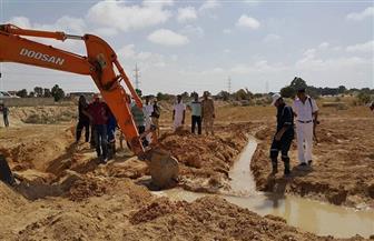 حملات إزالة التعديات على خطوط مياه الشرب مستمرة بمطروح خلال أيام العيد