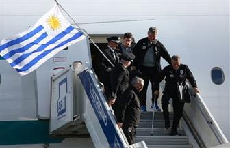 منتخب أوروجواي يصل مطار ستريجينو للمشاركة في مونديال روسيا |صور